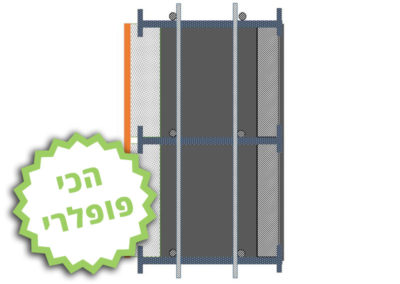 חתך ICB (בידוד- בטון – בלוק)