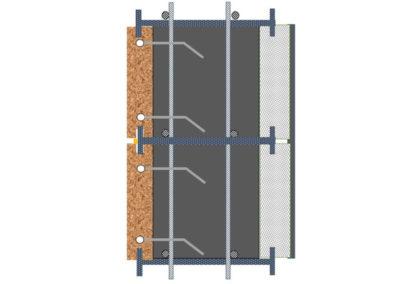 חתך SCI(אבן – בטון – בידוד)
