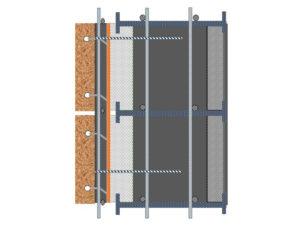 חתך SCICB (אבן – דייס בטון – בידוד – בטון – בלוק לתבנית)
