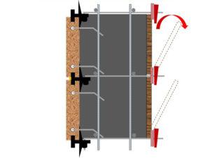 חתך SCT רוחב קיר משתנה (אבן – בטון – דיקט טגו)